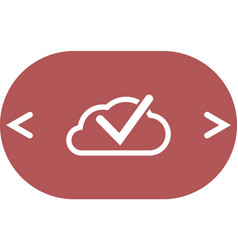 cloud select icon cloud click symbol vector image vector image