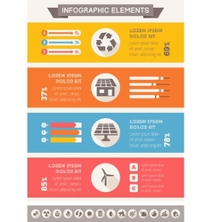 Ecology Infographic Template vector image