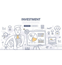 Investment Doodle Concept vector image