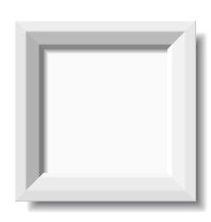 white stylish photo frame vector image vector image