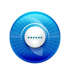 Blue glossy control panel vector image vector image