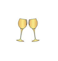 clink glasses computer symbol vector image