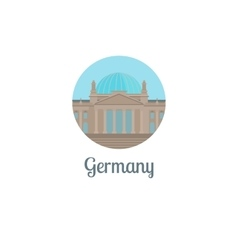 Germany landmark isolated round icon vector image