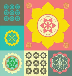 Life flower ornament vector image vector image