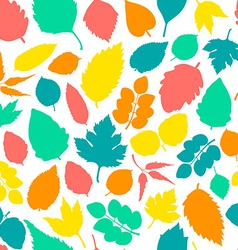 Pattern with leaves vector image vector image