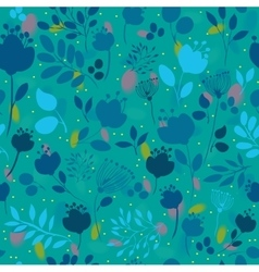 Spring Night Flowers Floral Seamless Pattern vector image vector image