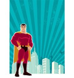 Superhero city vector