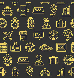 taxi services pattern background vector image vector image