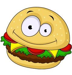 burger cartoon vector image