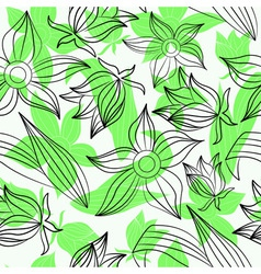 green flowers vector image vector image