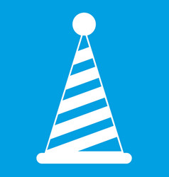 party hat icon white vector image