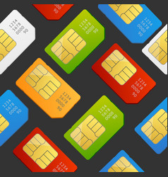 sim card seamless pattern background vector image vector image
