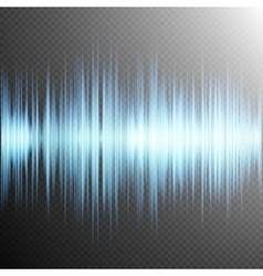 Sound wave on Transparent background EPS 10 vector image vector image