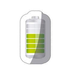 Sticker battery symbol with level acumulator vector