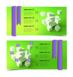 business presentation infographic horizontal vector image vector image
