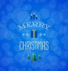 Christmas card with holiday icons Merry Christmas vector image