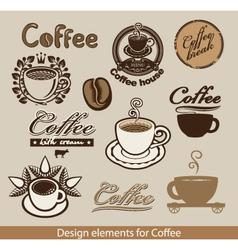 coffee theme vector image vector image