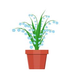 Flower plant in flower pot decoration home plant vector