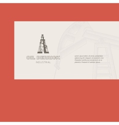 Oil rig card vector image vector image