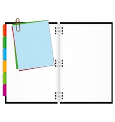 open notepad vector image vector image