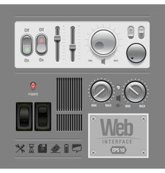 web ui elements design gray vector image