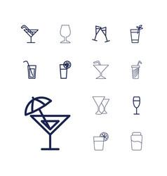 13 martini icons vector