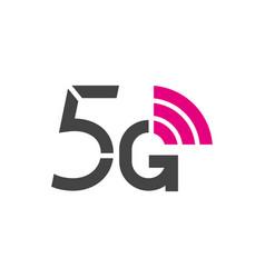 5g logo 5th generation wireless internet vector image