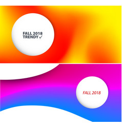 Abstract design of colourful flow elements vector