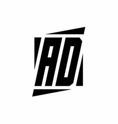 Ad logo monogram with modern style concept design vector