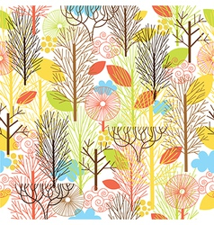 Autumn forest seamles pattern vector