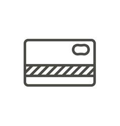 bank card icon line creedit card symbol vector image