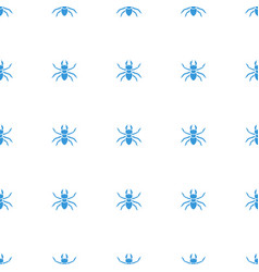 Beetle icon pattern seamless white background vector