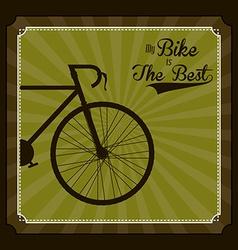 Bike lifestyle design vector image