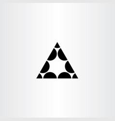 black triangle symbol geometric icon logo element vector image