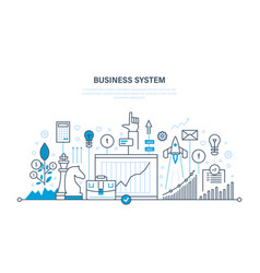 business system planning analysis research vector image