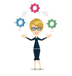 Businesswoman strategic thinking vector