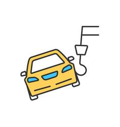 car towing rgb color icon vector image