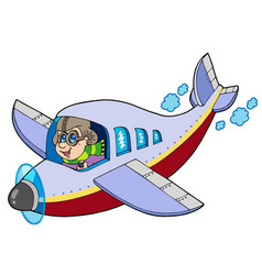 cartoon aviator vector image