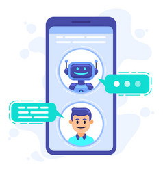 Chat bot communication smartphone chatting vector