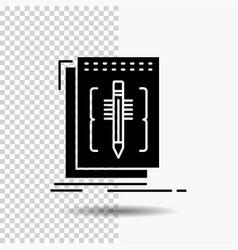 Code edit editor language program glyph icon on vector