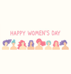 design for international women s day 8 vector image