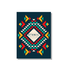 ethnic style card template abstract design ethno vector image