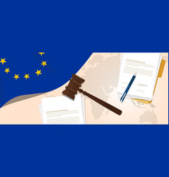 Europe union eu law constitution legal judgment vector