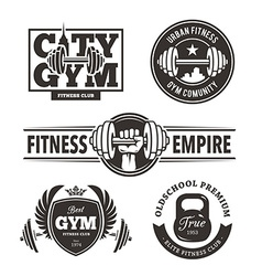 Fitness Emblems Set vector