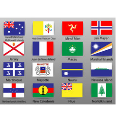 flags of all countries of the world vector image