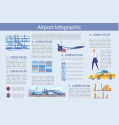 flat modern airport infographic vector image