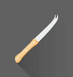 Flat style barman knife icon vector