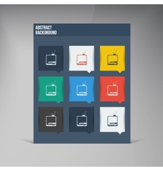 flat UI design trend icons vector image vector image