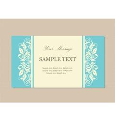 Floral vintage card blue vector