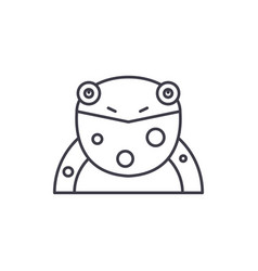 funny frog line icon concept funny frog vector image